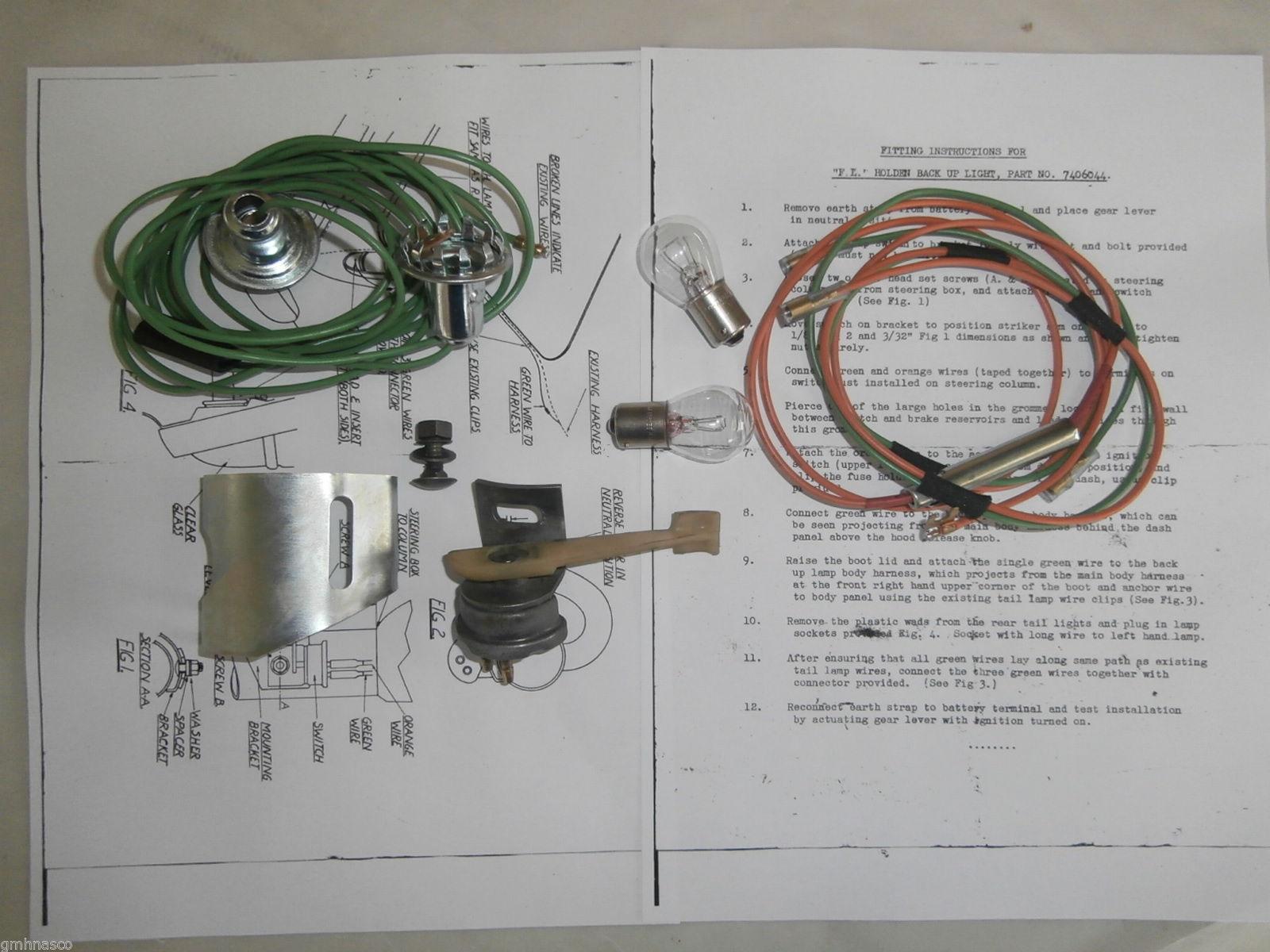 Holden FE FC Reverse Light Lamp Package 7406044